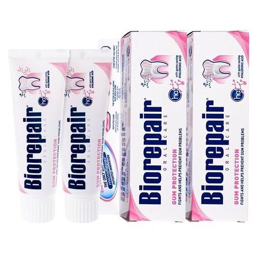 Купить Зубная паста Biorepair Gum Protection, для защиты десен, 75 мл, 2 шт.