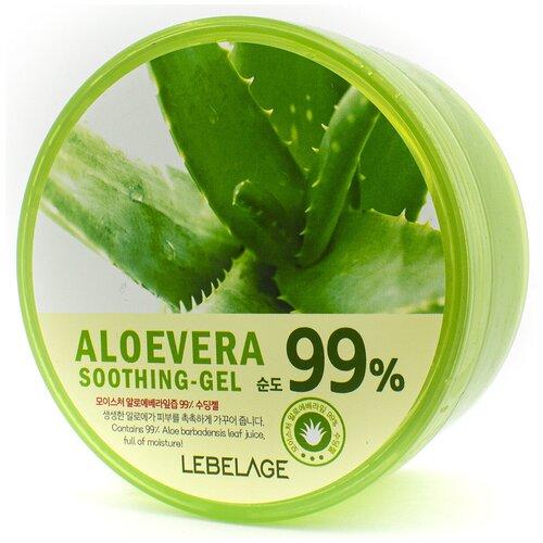 Гель для тела Lebelage Aloe Vera 99% Soothing Gel универсальный с экстрактом алоэ, 300 мл гель для тела lebelage moisture avocado 100% soothing gel универсальный с экстрактом авокадо 300 мл