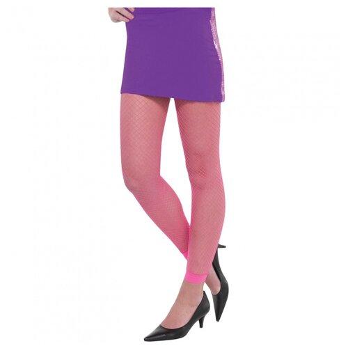 Неоновые розовые леггинсы в сетку, One Size.