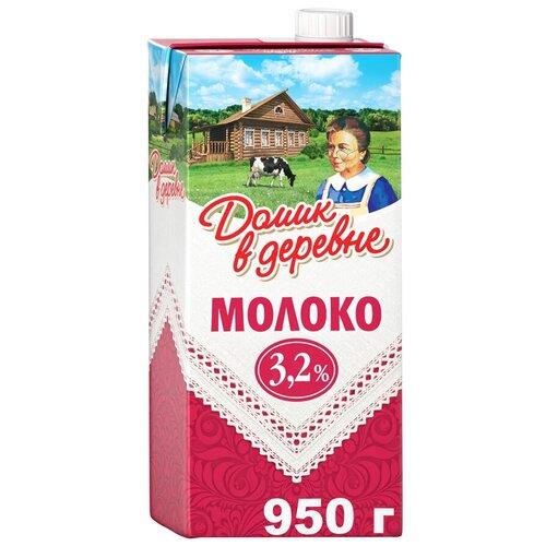 Молоко Домик в деревне ультрапастеризованное 3.2%, 0.95 кг