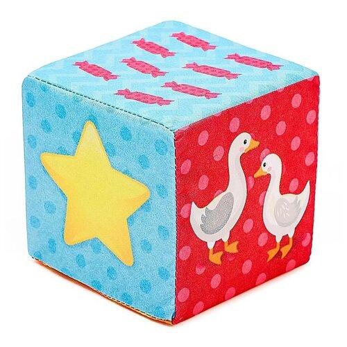 Купить Мягкие кубики ZABIAKA Обучающие , 8*8 см, 6 шт (4515101), Детские кубики
