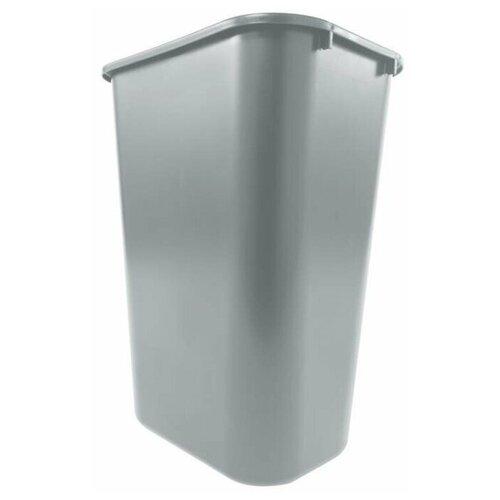 Корзина для мусора прямоугольная офисная Soft Wastebaskets 39 л, Серый, Rubbermaid