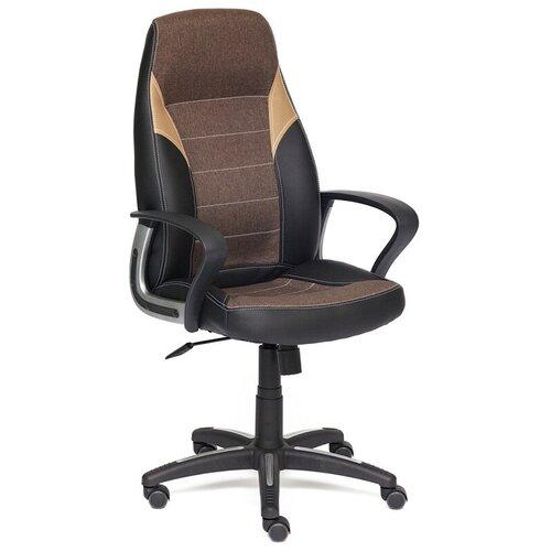 Фото - Компьютерное кресло TetChair Интер офисное, обивка: текстиль/искусственная кожа, цвет: черный/коричневый/бронзовый компьютерное кресло tetchair багги обивка текстиль искусственная кожа цвет черный серый
