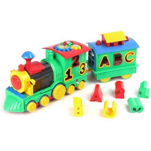 Купить Развивающая игрушка Jinkaixuan toys Поезд с цифрами 80920, зеленый, Развивающие игрушки