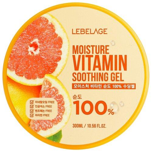 Гель для тела Lebelage Moisture Vitamin Soothing Gel увлажняющий успокаивающий, 300 мл гель для тела lebelage moisture avocado 100% soothing gel универсальный с экстрактом авокадо 300 мл