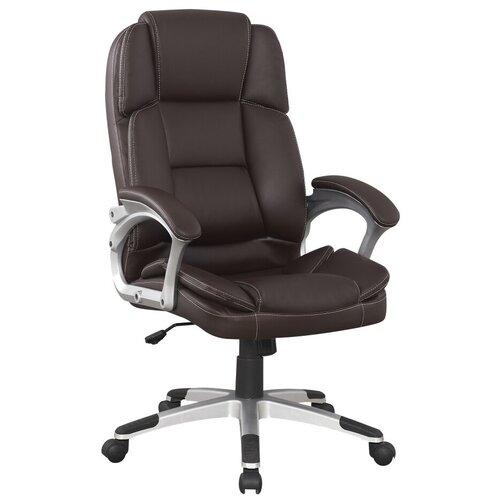Компьютерное кресло College BX-3323 для руководителя, обивка: искусственная кожа, цвет: коричневый