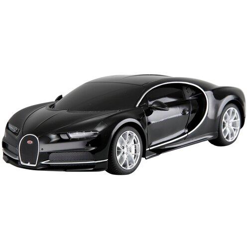 Фото - Гоночная машина Rastar Bugatti Chiron (76100) 1:24 18.9 см черный гоночная машина rastar bugatti veyron grand sport vitesse 53900 1 18 черный