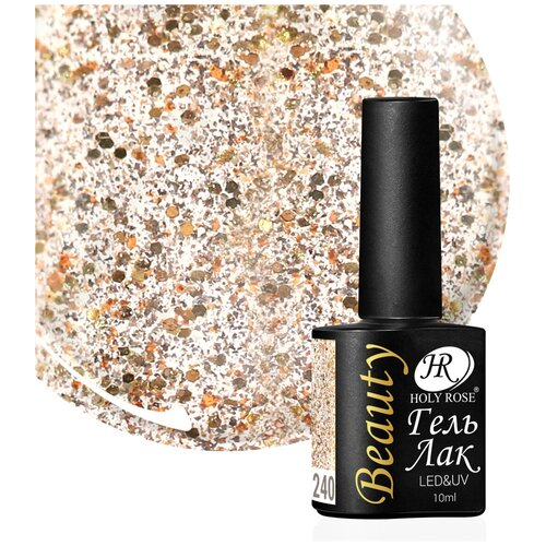 Купить Гель-лак для ногтей Holy Rose Beauty с блестками, 10 мл, №240
