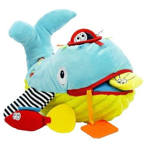 Развивающая игрушка Dolce Кит, желто-голубой развивающая игрушка dolce попугайчик бело красно голубой
