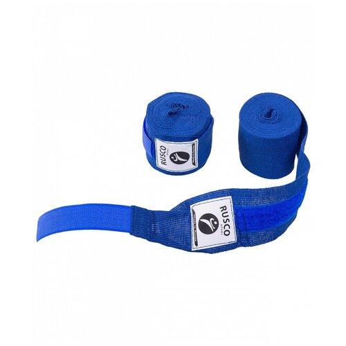 Кистевые бинты RUSCO SPORT 4,5 м синий