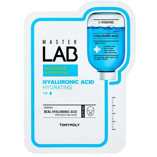 TONY MOLY тканевая маска Master Lab Hyaluronic Acid глубокое увлажнение, 19 г tony moly tony lab