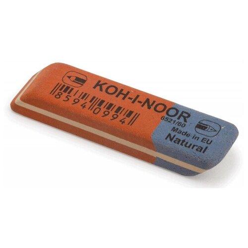 Ластик KOH-I-NOOR для графита и чернил сине-красный 57х14х8мм 6521 Чехия 5 штук стирательная резинка ластик koh i noor bluestar 6521 40