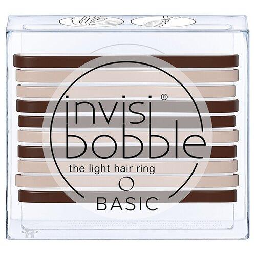 Купить Резинка Invisibobble BASIC 10 шт. Mocca & Cream
