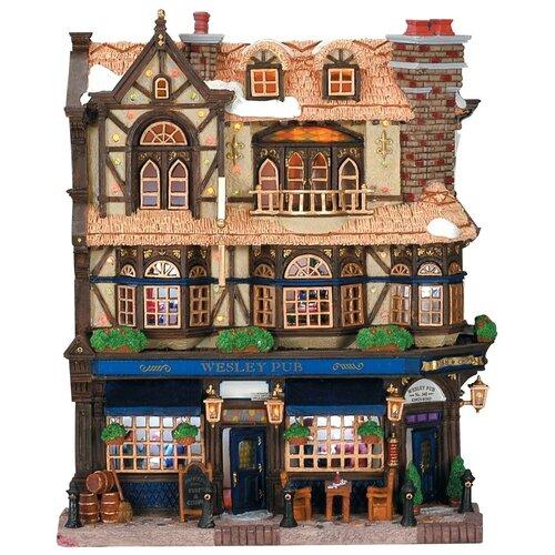 фигурка lemax отель яркий шип 20 х 20 2 х 15 7 см коричневый красный Фигурка LEMAX фасад Паб Уэсли 27 х 21.5 х 7.6 см коричневый/синий