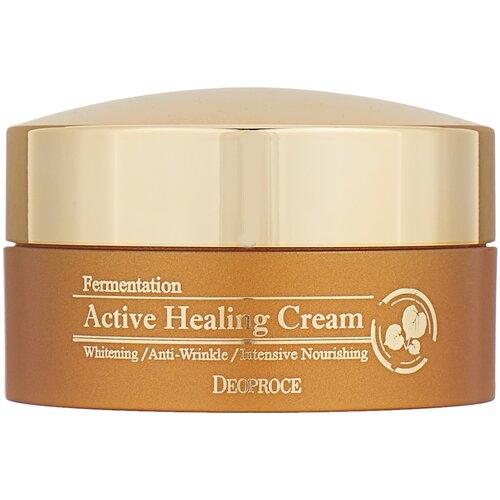 Купить Deoproce Fermentation Active Healing Cream Кислородный крем для лица против морщин, 100 г