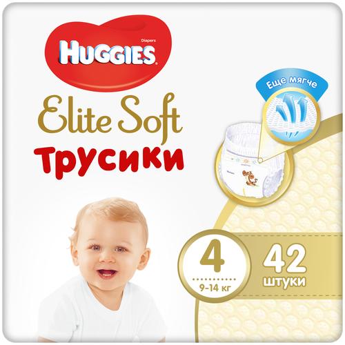 Купить Huggies Elite Soft трусики 4 (9-14 кг), 42 шт., Подгузники