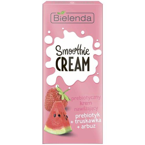 Купить Bielenda Smoothie Cream Увлажняющий крем для лица Пребиотик+Клубника+Арбуз, 50 мл