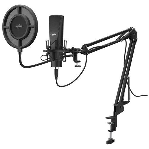 Микрофон проводной Hama Stream 800 HD 2.5м черный