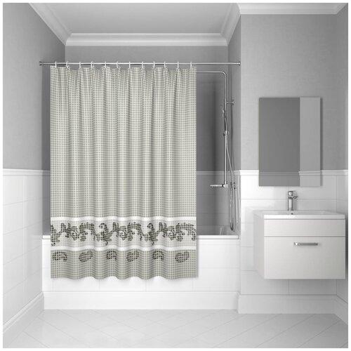 Фото - Штора для ванной IDDIS B51P218i11 180x200 серый штора для ванной iddis 680p18ri11 180x200 зеленый черный
