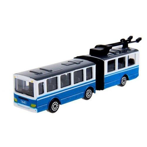 Купить Машинка ТЕХНОПАРК Городской транспорт с резинкой (SB-15-34-CDU), 12 см, Машинки и техника
