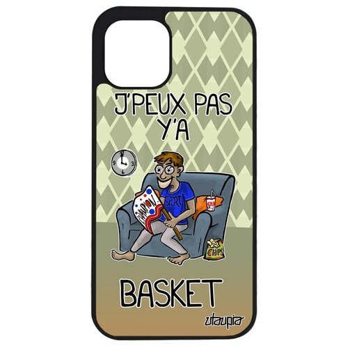 """Чехол для телефона iPhone 12 mini, """"Не могу - смотрю баскетбол!"""" НБА Шутка"""