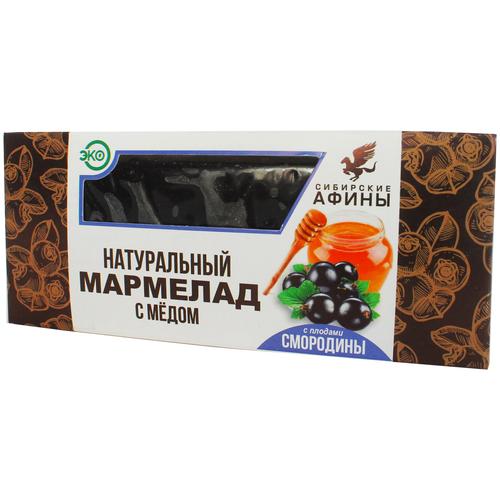 Мармелад Сибирские Афины сибирский на меду со смородиной 200гр мармелад жевательный ecofood siberia сибирские афины ягодное ассорти 100 г