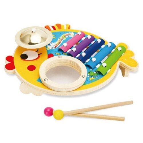 Mapacha набор музыкальных инструментов Рыбка 76810 желтый