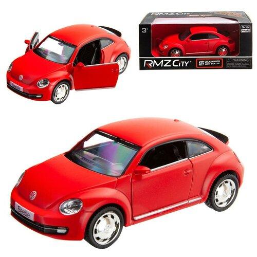 Купить Машинка металлическая Uni-Fortune RMZ City 1:32 Volkswagen New Beetle 2012, инерционная, красный матовый цвет, 16.5 x 7.5 x 7 см, Машинки и техника