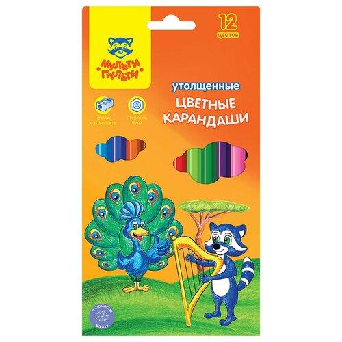Мульти-Пульти Карандаши цветные Енот в саванне 12 цветов (CP_11500) мульти пульти карандаши цветные енот в испании 24 цвета cp 10758