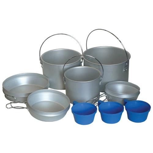 Набор туристической посуды Tramp TRC-002, 9 предметов стальной/синий палатка tramp lite twister 3