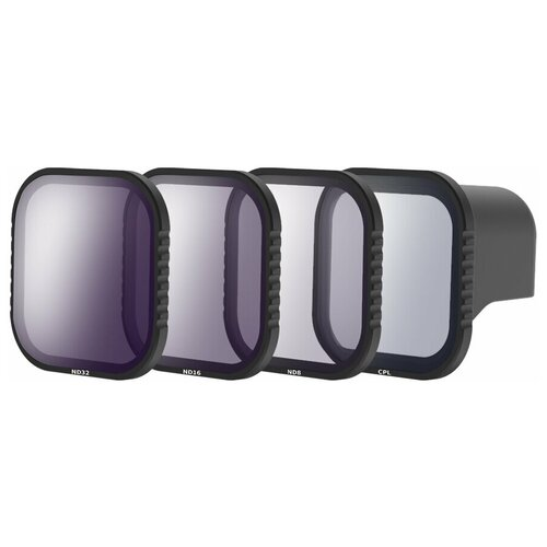 Фото - Telesin Набор фильтров CPL / ND8 / ND16 / ND32 для GoPro HERO8 Black крышка для объектива telesin для gopro hero8 черный