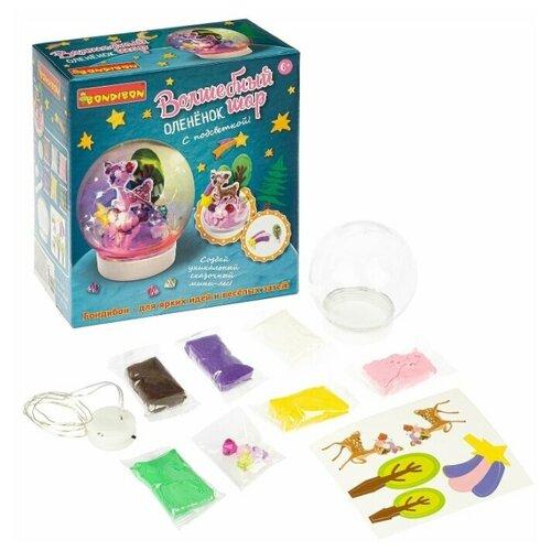 Купить Набор для творчества BONDIBON, Волшебный шар. Оленёнок ( с подсветкой), Пластилин и масса для лепки