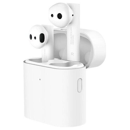 Фото - Беспроводные наушники Xiaomi Mi True Wireless Earphones 2S, белый беспроводные наушники xiaomi airdots pro mi true wireless earphones белый