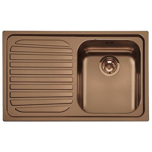 Врезная кухонная мойка 79 см Smeg SP791S медный врезная кухонная мойка 79 см smeg sp791s 2 нержавеющая сталь матовая