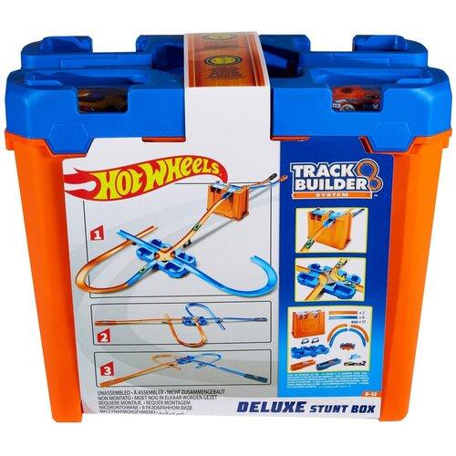 Трек Hot Wheels Track Builder Set House Stunt Deluxe GGP93 launcher track t rex rampage hot wheels