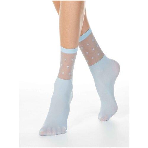 Капроновые носки Conte Elegant 19С-29СП, размер 23-25, light blue