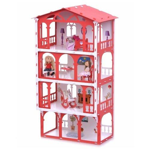 KRASATOYS кукольный домик Елена 000283/000284, белый/красный