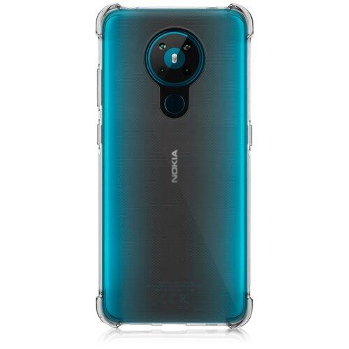 Противоударный силиконовый чехол ROSCO для Nokia 5.3 (Нокиа 5.3), прозрачный