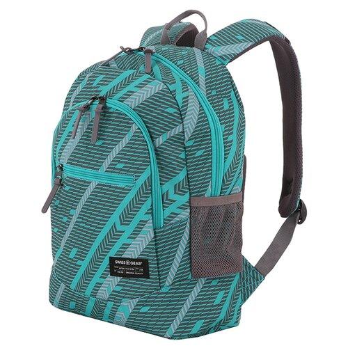 Фото - Рюкзак SWISSGEAR, голубой/серый, полиэстер 600D, 32х16х43 см, 22 л рюкзак swissgear 32x15x46 см 22 л черный