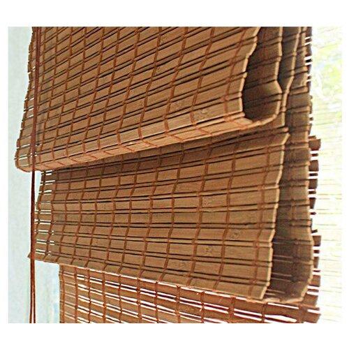 римская штора эскар лея сирень 60х160 см Римская штора Эскар бамбуковые (какао), 160х160 см