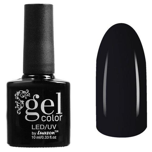 Фото - Гель-лак для ногтей Luazon Gel color, 10 мл, В2-057 черный гель лак для ногтей luazon gel color termo 10 мл а2 076 пурпурный перламутровый