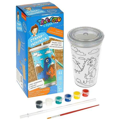 Купить Набор для творчества BONDIBON Стакан-раскраска , динозавры (ВВ4555), Раскраски