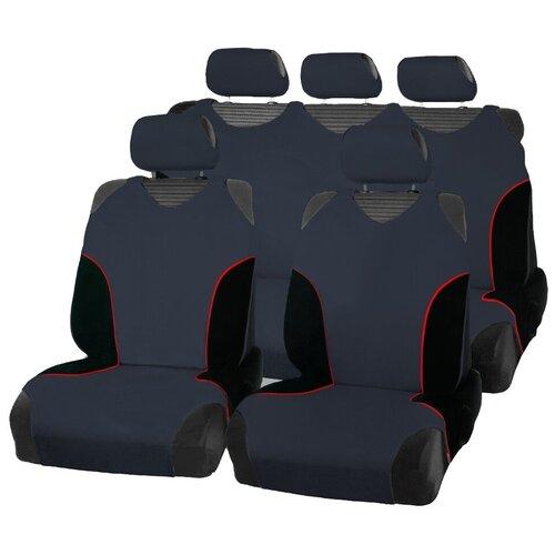 Чехлы-майки для автомобильных сидений AceStyle (темно-серые с черными вставками)