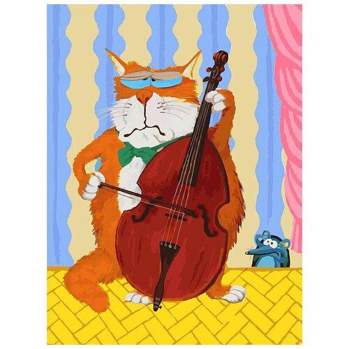 Фото - Белоснежка Картина по номерам Кот-музыкант 30х40 см (773-AS) белоснежка картина по номерам солнечный кот 30х40 см 297 as