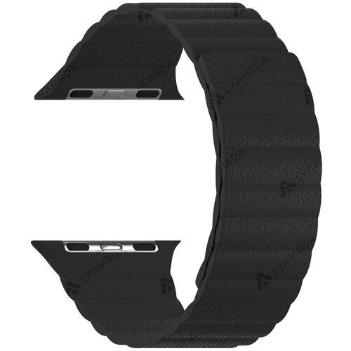Кожаный ремешок для Apple Watch 38/40 mm LYAMBDA POLLUX DSP-24-40-BK Black ремешок lyambda pollux для apple watch 38 40 mm dsp 24 40 bk черный