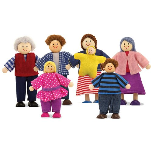 Купить Набор кукол Melissa&Doug Кукольная семья, 2464, Melissa & Doug, Куклы и пупсы