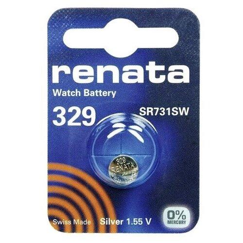 Фото - Батарейка Renata 329, 1 шт., 5 уп. батарейка renata 335 1 шт