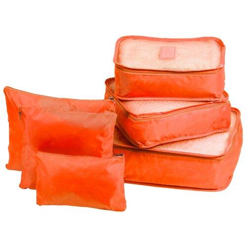 Органайзеры комплект 6 штук однотонные, цвет оранжевый