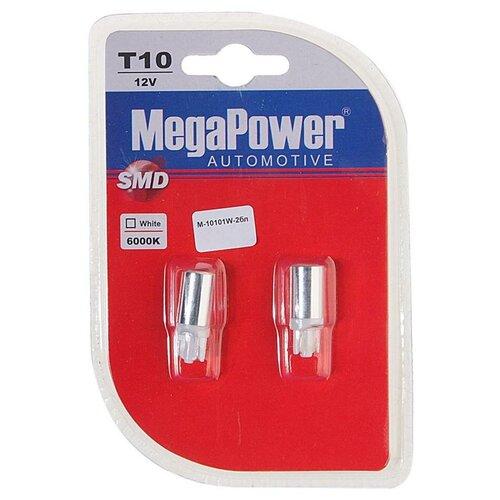 Лампа автомобильная светодиодная MegaPower M-10101W-2бл T10 12V 10W 2 шт.