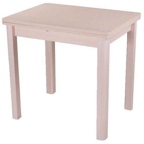 Стол кухонный Домотека Дрезден М-2 04, раскладной, ДхШ: 60 х 80 см, длина в разложенном виде: 120 см, МД молочный дуб 04 МД молочный дуб